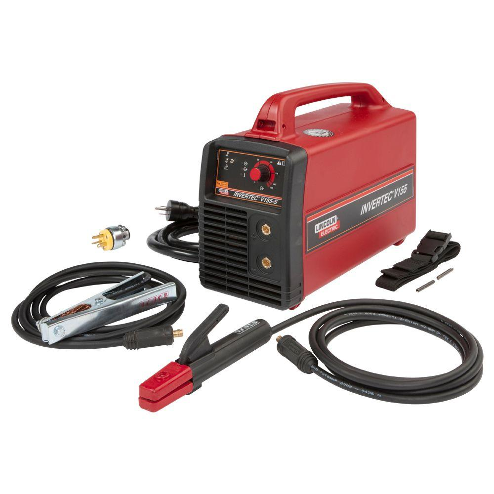Lincoln Electric 155 Amp Invertec V155-S Stick Welder, Single Phase, 120V/