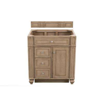 Bristol 30 in. W Single Vanity Cabinet Only in Whitewashed Walnut