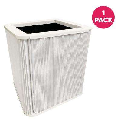Replacement Blueair 211 Plus Air Purifier Filter with Built in Carbon Filter, Foldable