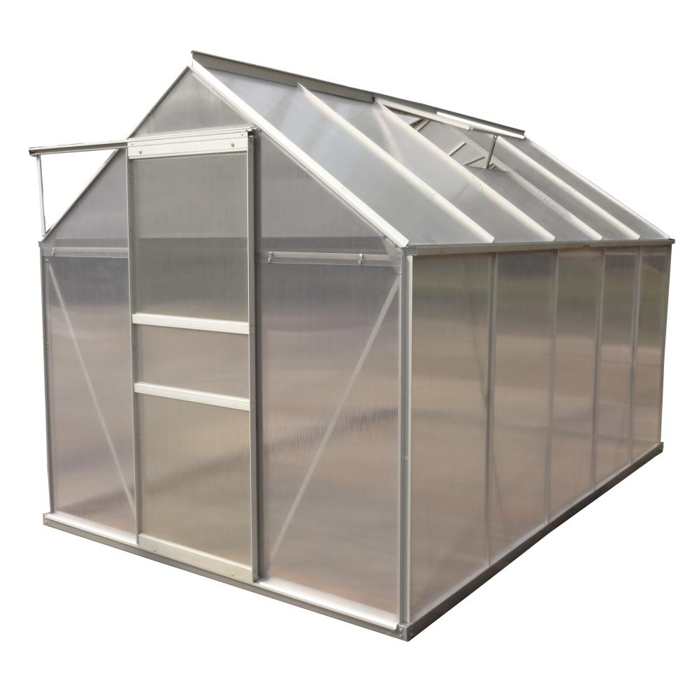777c1e2e314b ALEKO 6.25 ft. W x 10.16 ft. D x 6.41 ft. H Polycarbonate Greenhouse