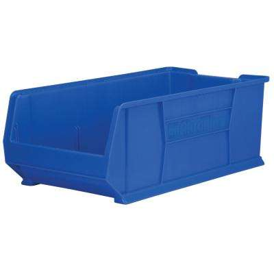 Super-Size AkroBin 16.5 in. 300 lbs. Storage Tote Bin in Blue with 17 Gal. Storage Capacity