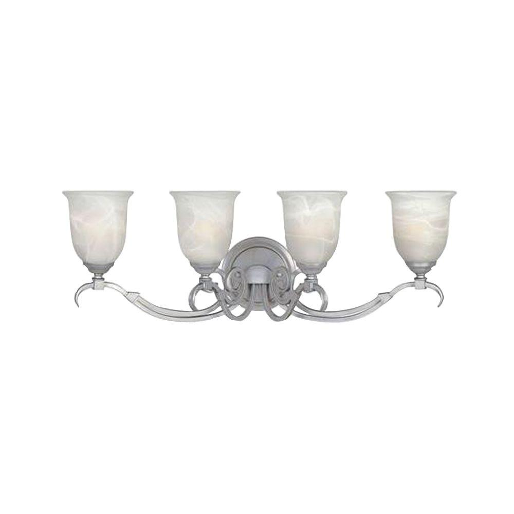 Designers Fountain Kavala Collection 4-Light Matte Pewter Wall Vanity Light