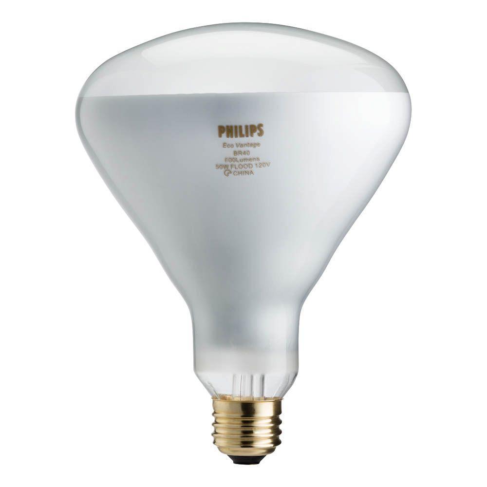 Philips 50 Watt Equivalent Halogen Br40 Flood Light Bulb 459404 The Home Depot