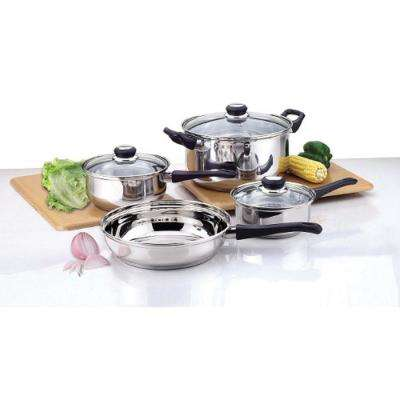 7-Piece Bakelite Handle Stainless Steel Cookware Set