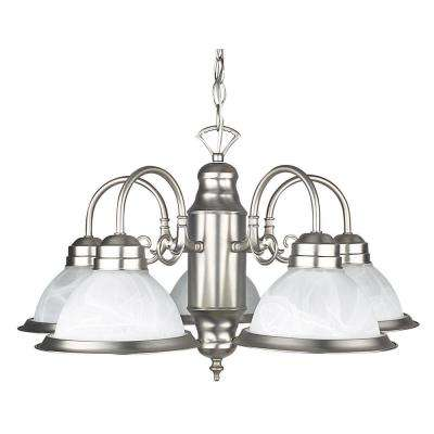 Ultra 23 in. 5-Light Satin Nickel Chandelier