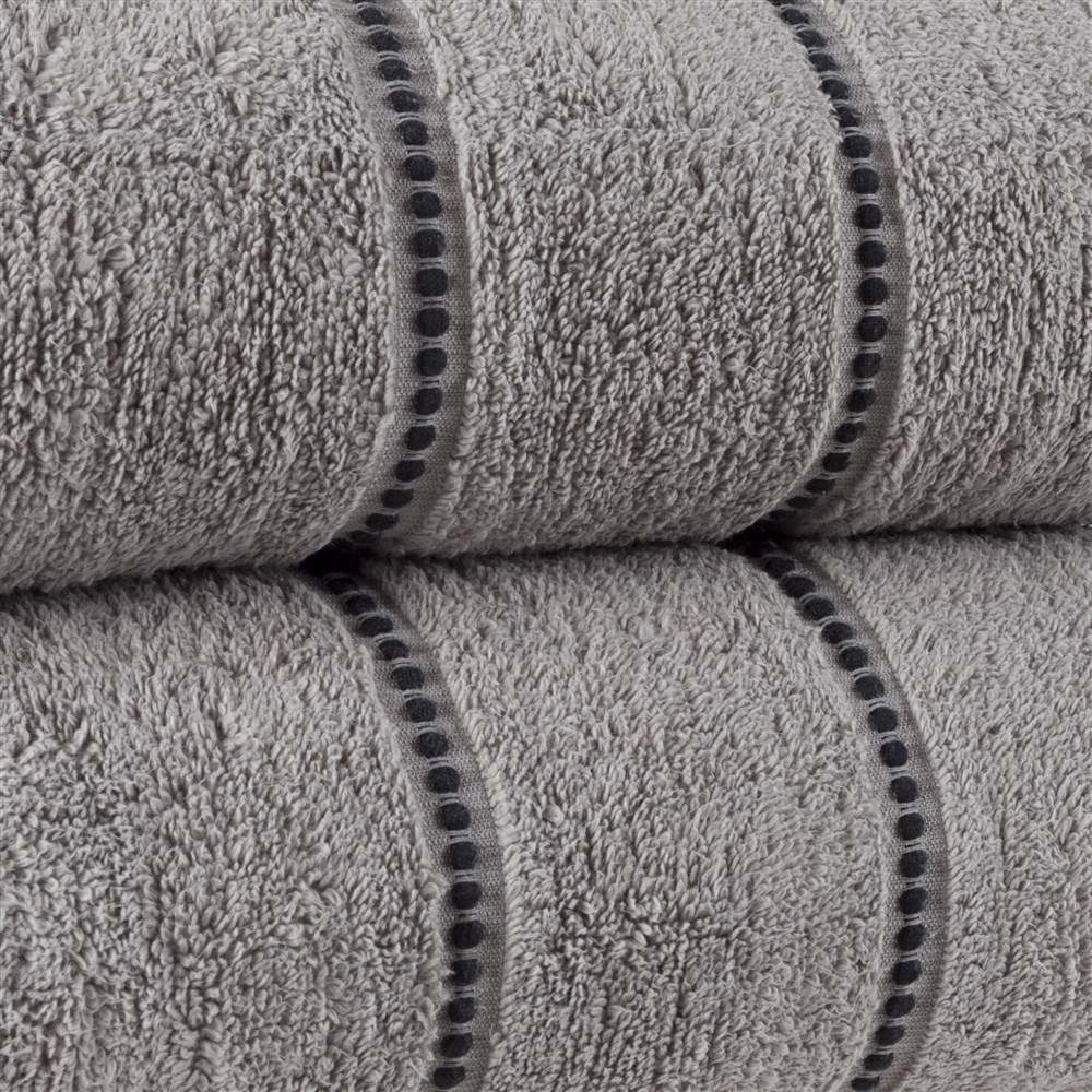 5-Piece Silver Solid Bath Towel Set