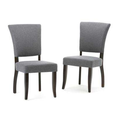 Joseph Slate Grey Linen Look Fabric Dining Chair (Set of 2)