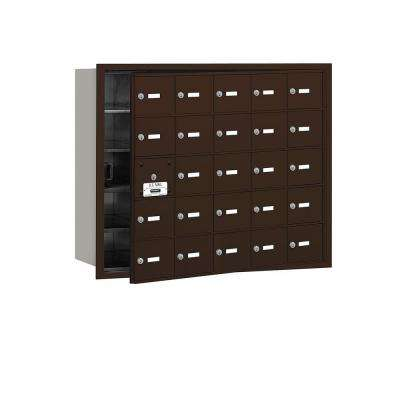 Bronze USPS Access Front Loading 4B Plus Horizontal Mailbox with 25A Doors (24 Usable)