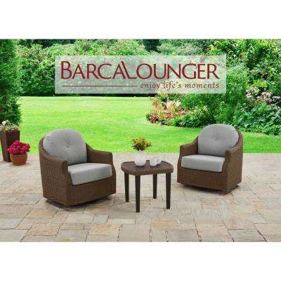 Braylen 3 Piece Aluminum Patio Conversation Set With Sunbrella Mist Cushions
