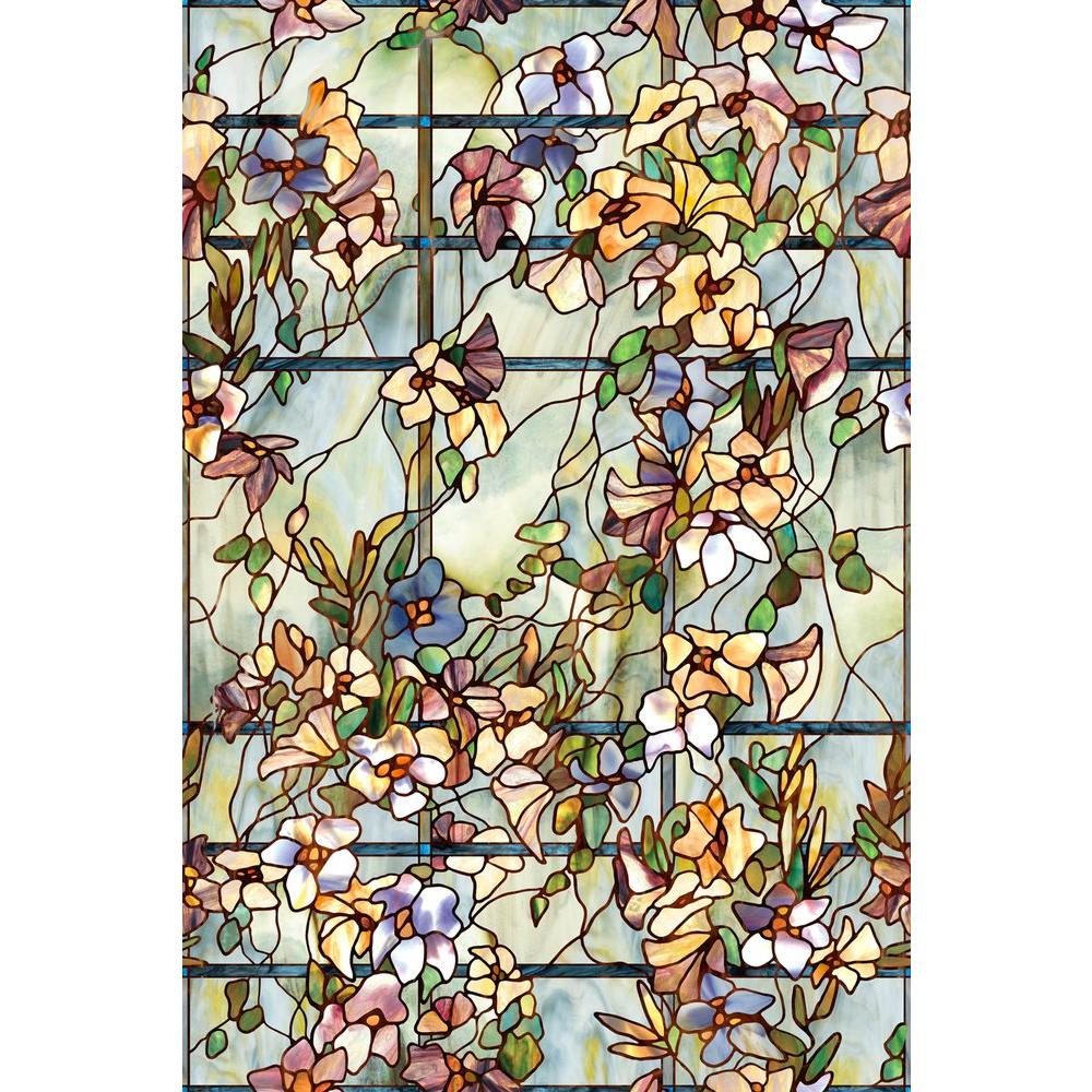 Decorative Window Film Lowes.Artscape 24 In X 36 In Trellis Decorative Window Film
