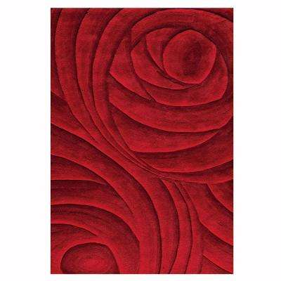 Optics Red 8 ft. x 11 ft. Area Rug