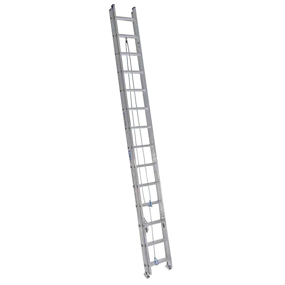 Werner 28 ft. Aluminum Extension Ladder with 250 lbs. Load Capacity Type I Duty Rating
