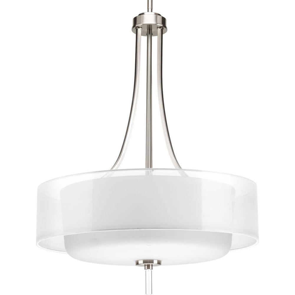 Invite Collection 4-Light Brushed Nickel Foyer Pendant