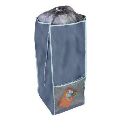 Back to School Mint Polyester Laundry Hamper with Straps