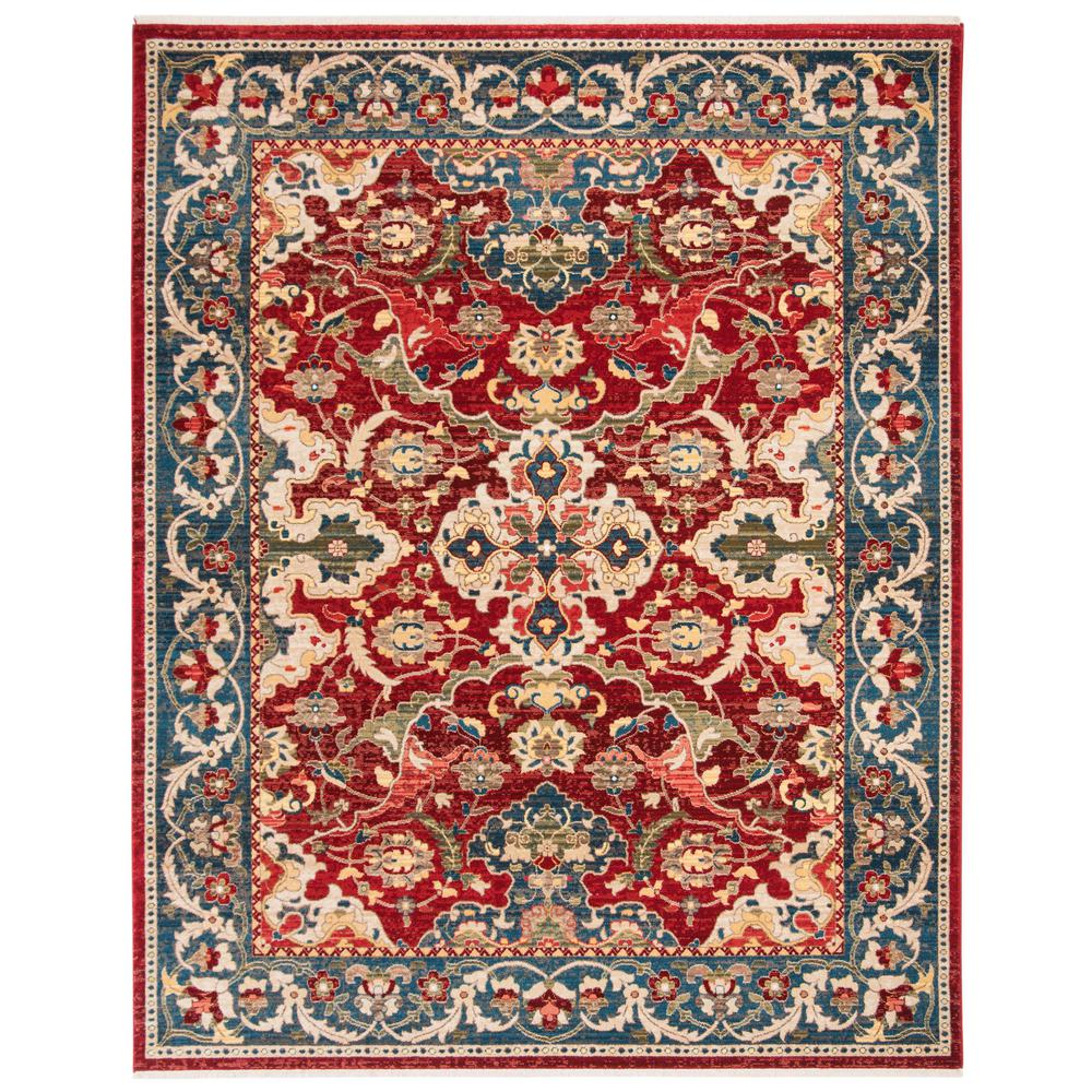 Safavieh Kashan Red Blue 8 Ft X 10 Ft Area Rug Ksn307q 8 The