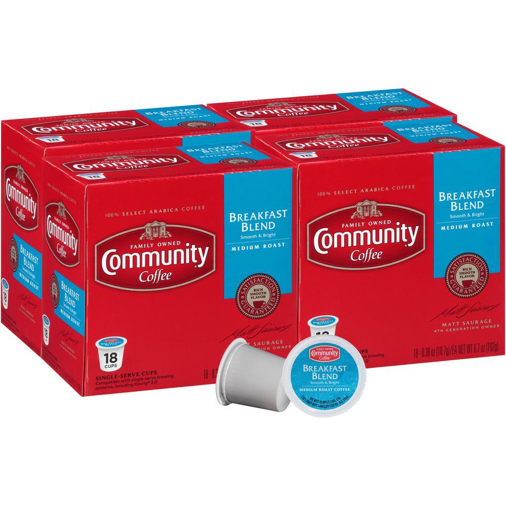 Community Coffee Breakfast Blend Medium Roast Single Serve Cups (72-Pack)