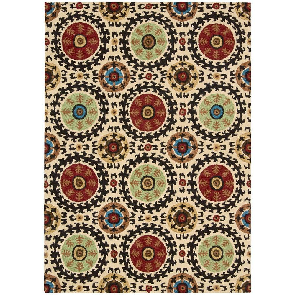 Nourison Overstock Suzani Ivory 8 ft. x 10 ft. 6 in. Area Rug