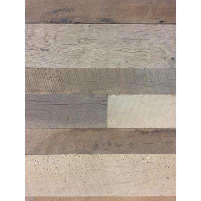 24 sq. ft. 3-1/2 in. Wide Original Face Reclaimed Barn Wood Long Plank Wall Paneling Kit