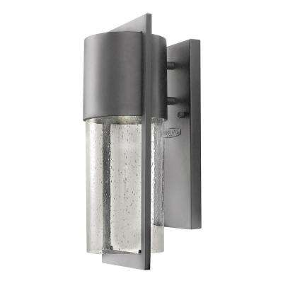 Shelter Small Hematite Gray Integrated LED Outdoor Wall Sconce