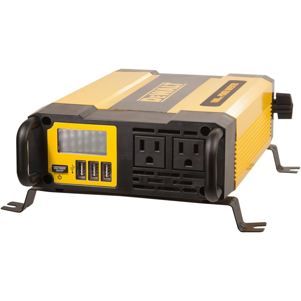 Dewalt 1000 Watt Power Inverter Dxaepi1000 The Home Depot Modified Sine Wave Circuit With Waveform Images Verified