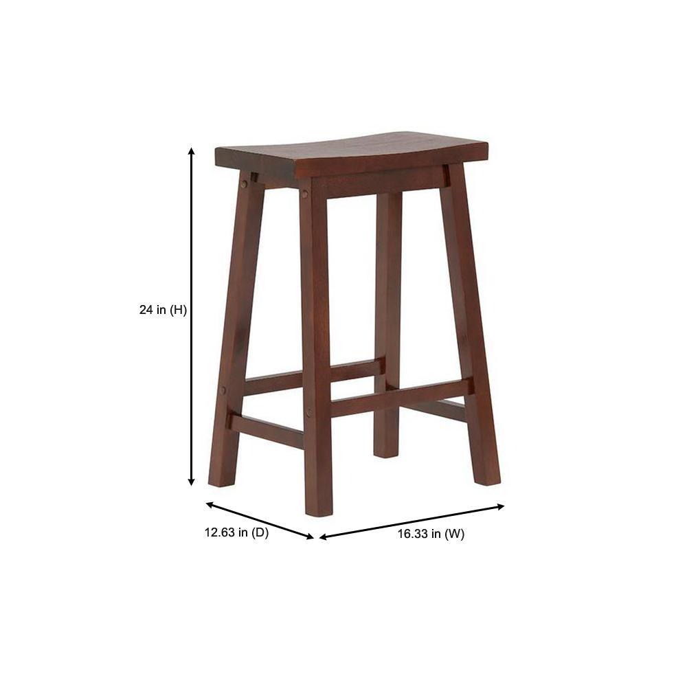 Wondrous Stylewell Stylewell Walnut Finish Saddle Backless Counter Inzonedesignstudio Interior Chair Design Inzonedesignstudiocom