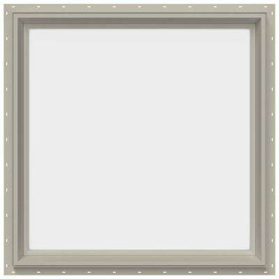 29.5 in. x 29.5 in. V-2500 Series Fixed Picture Vinyl Window - Tan