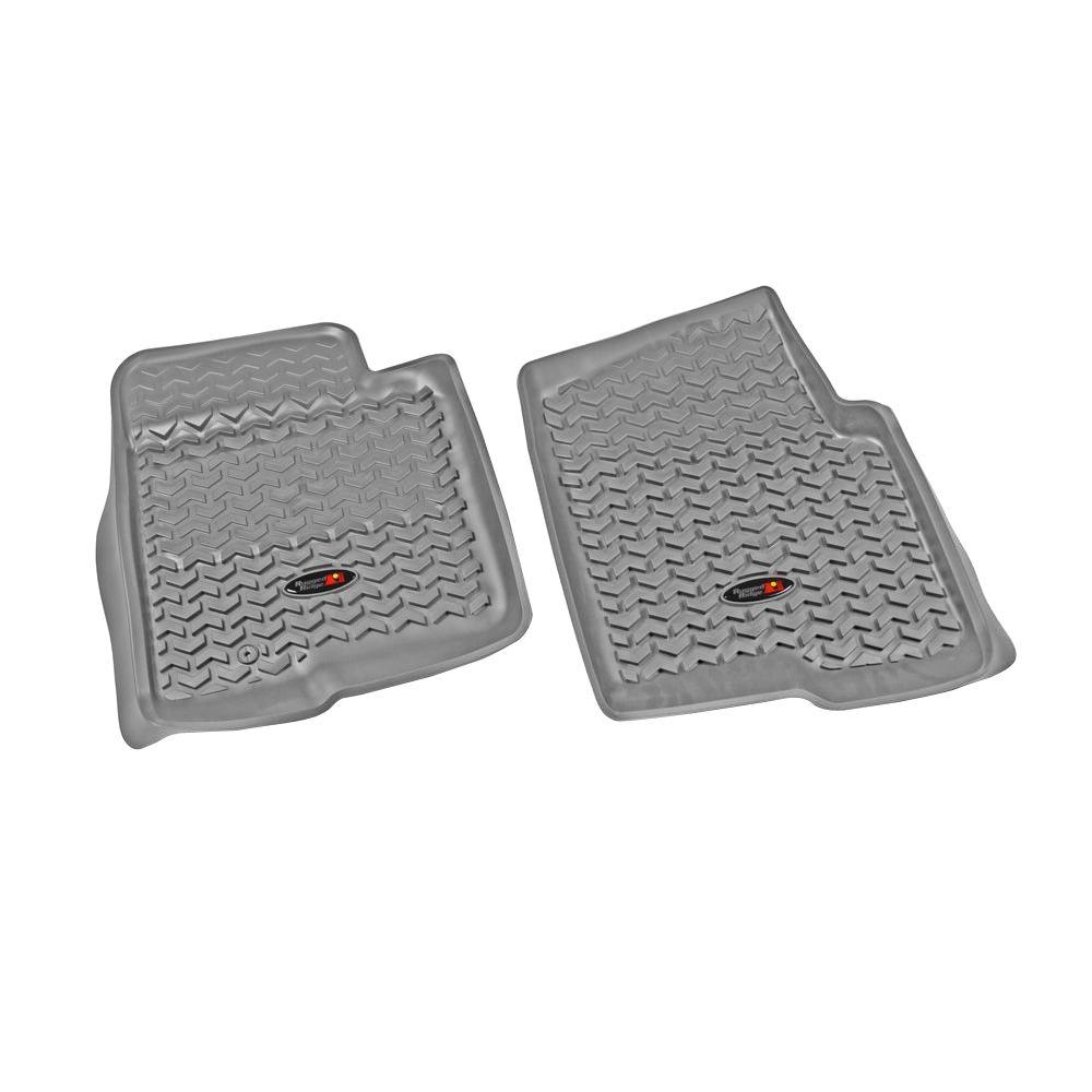 Rugged Ridge Floor Liner Front Pair Gray 2009-2011 Ford F150 Regular/Crew Cab