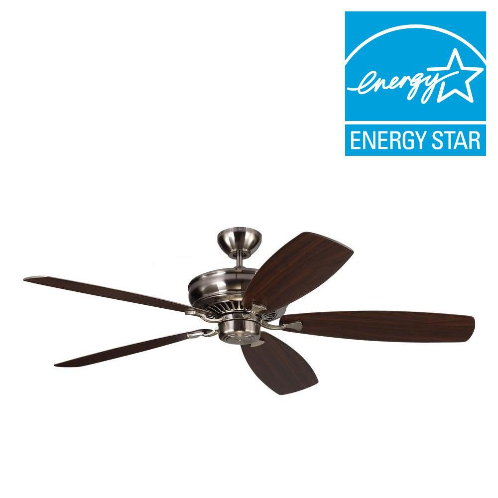 Bonneville Max 60 in. Brushed Steel Ceiling Fan