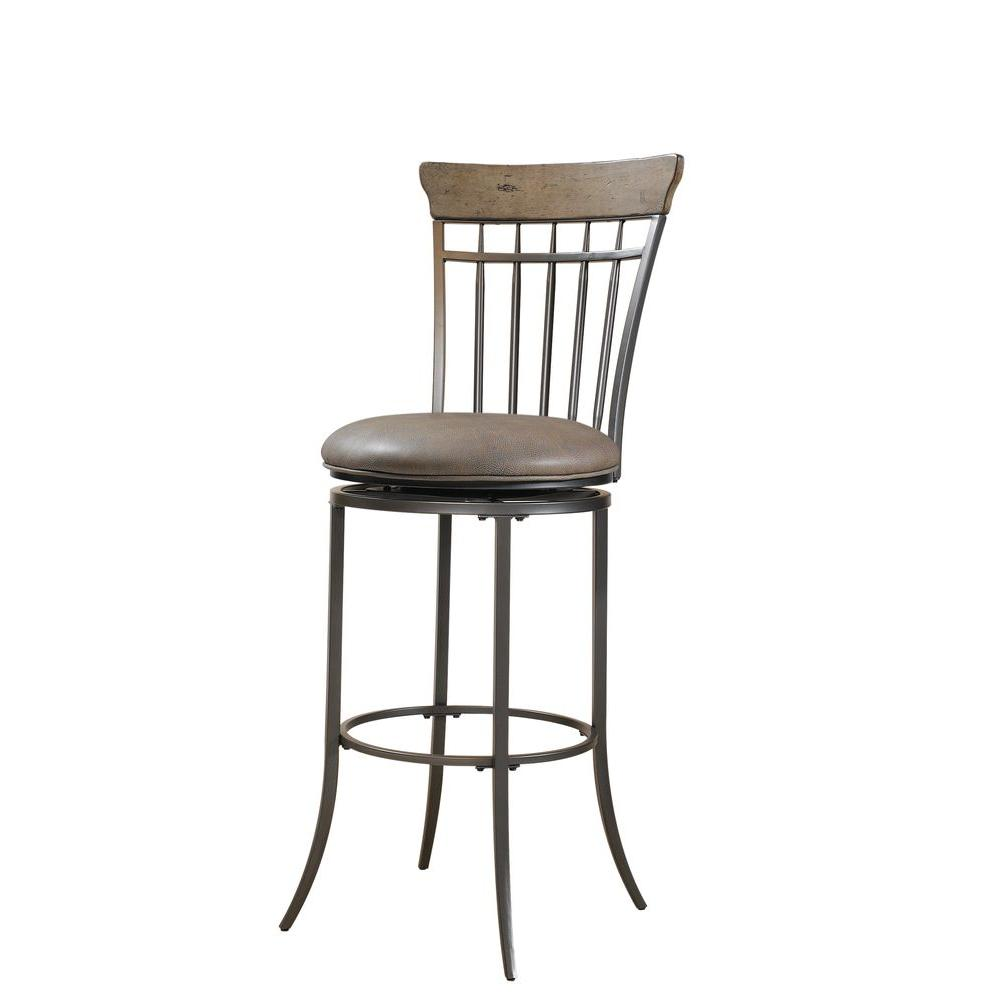Hillsdale Furniture Charleston Swivel Vertical Spindle Back Counter Stool