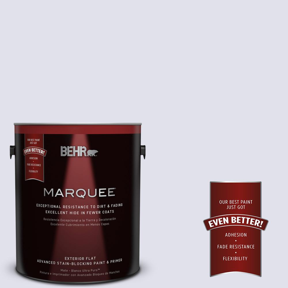BEHR MARQUEE 1-gal. #M550-1 White Lavender Flat Exterior Paint
