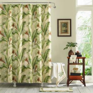 Palmiers Green 72in. X 96in. Extra Long Shower Curtain