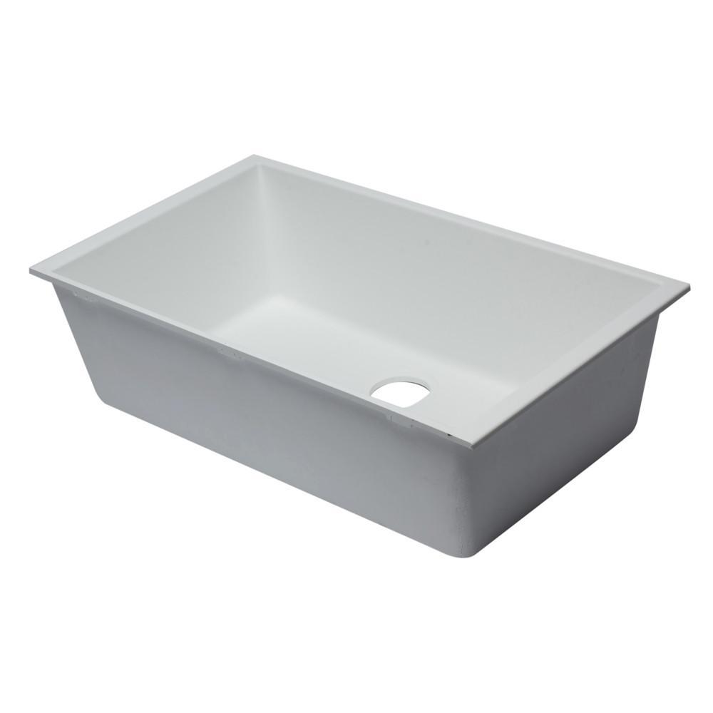 ALFI BRAND Undermount Granite Composite 33 in. Single Bowl Kitchen ...