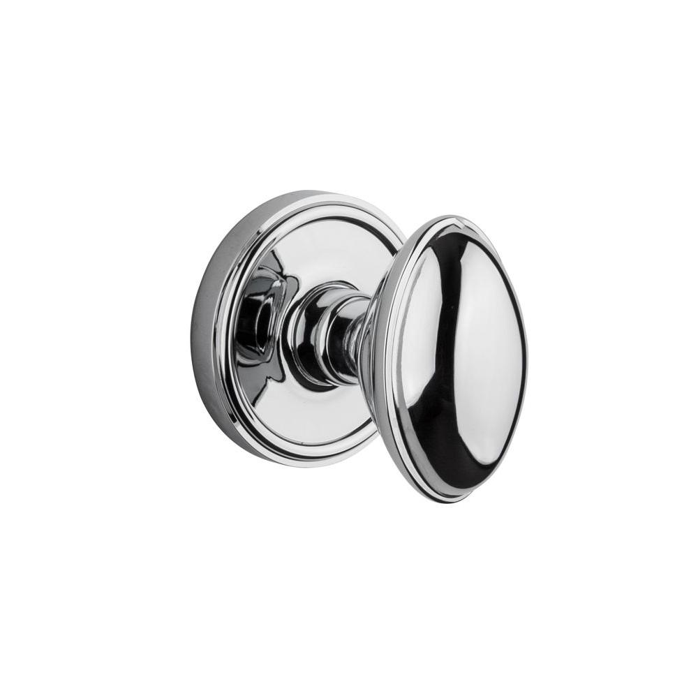 Grandeur Georgetown Rosette Bright Chrome with Privacy Eden Prairie Knob