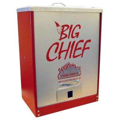 Big Chief Front Load Electric Smoker in Red