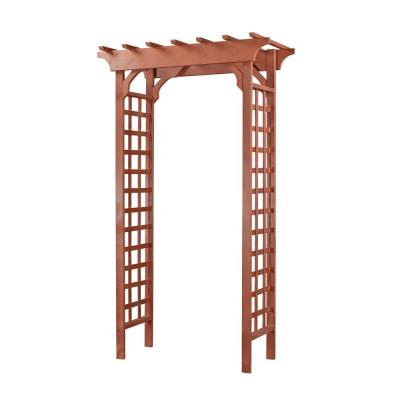 Greenstone Natural Arch 84 in  x 48 in  Outside Wooden Garden Arbor