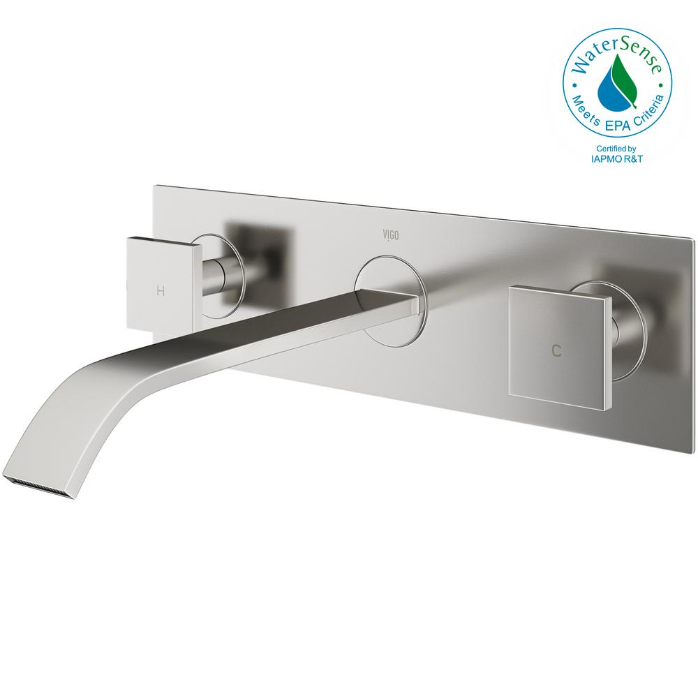 vigo bathroom faucets. VIGO Single Hole 2-Handle Wall-Mount Vessel Bathroom Faucet In Brushed Nickel Vigo Faucets