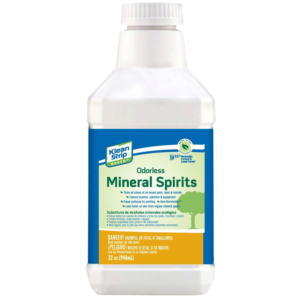 Turpentine vs mineral spirits silver decking paint