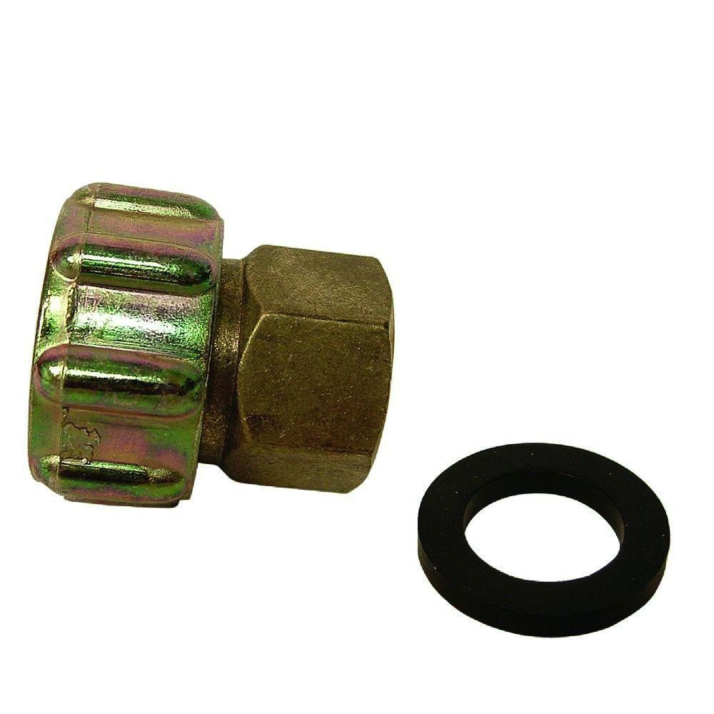 Everbilt 3/4 in. FHT x 1/2 in. O.D. FIP Lead-Free Brass Garden Hose Swivel Adapter Fitting