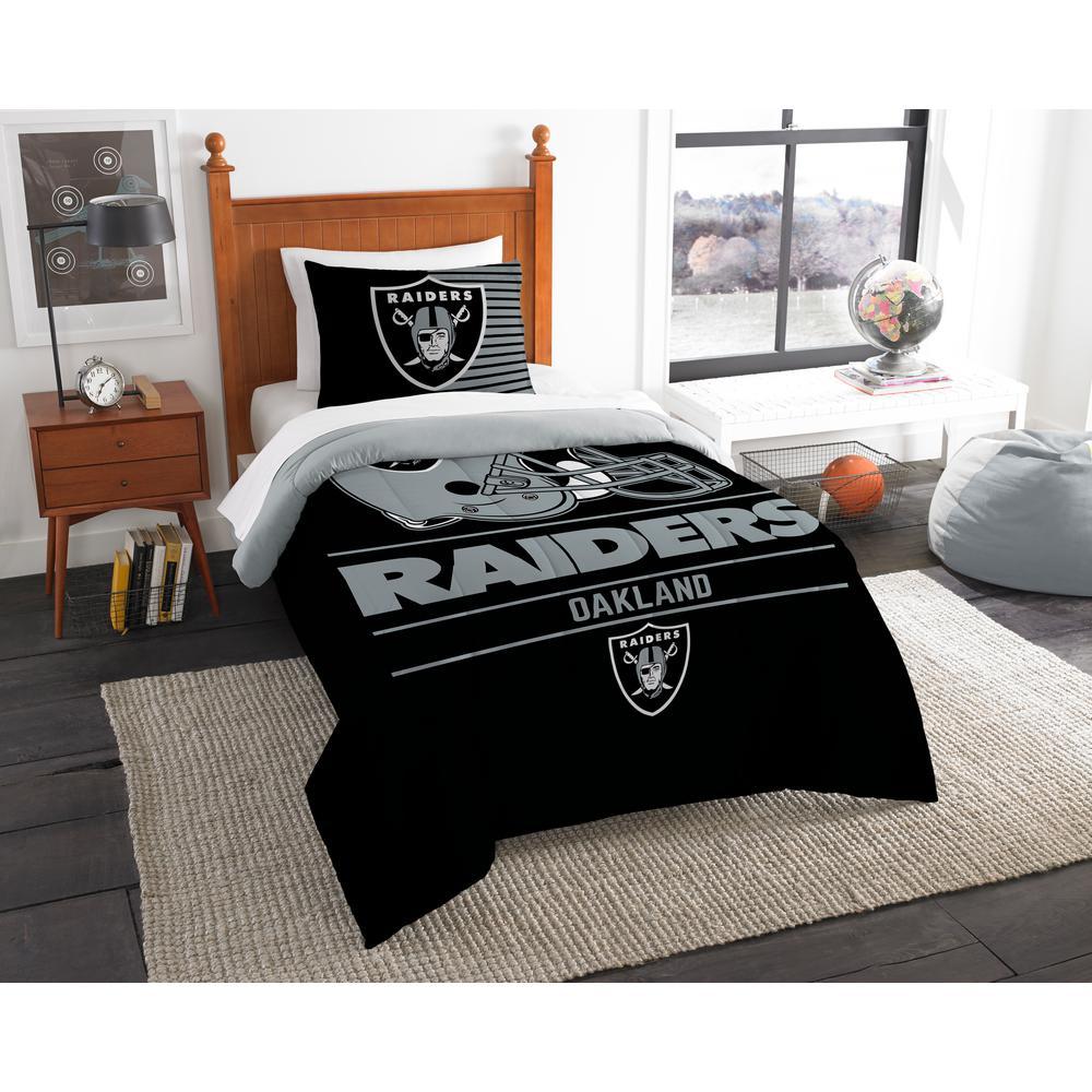 Raiders 2 Piece Draft Multi Twin Comforter Set