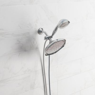 Refresh 7-spray 9 in. Dual Shower Head and Handheld Shower Head in Chrome
