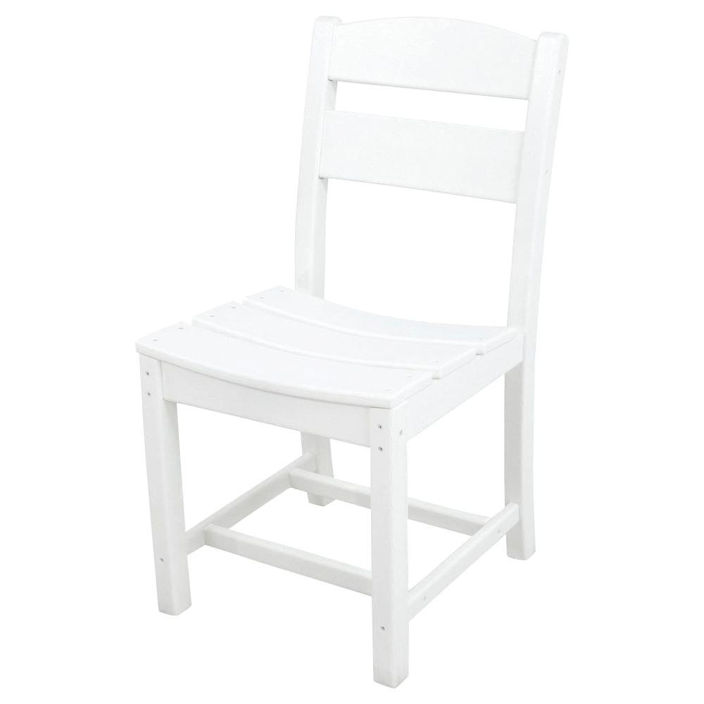Ivy Terrace Classics White All-Weather Plastic Outdoor Di...
