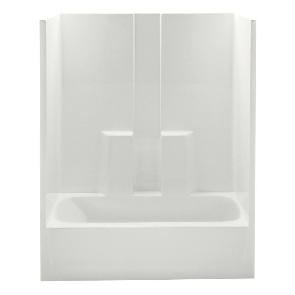 Aquatic Everyday 60 in. x 32 in. x 78.3 in. 1-Piece Bath and Shower ...
