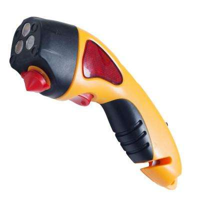 Hand Crank Yellow LED Auto Emergency Escape Hammer Safety Tool with Flashlight