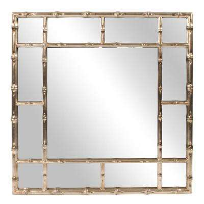 Bamboo Country-Silver Decorative Mirror