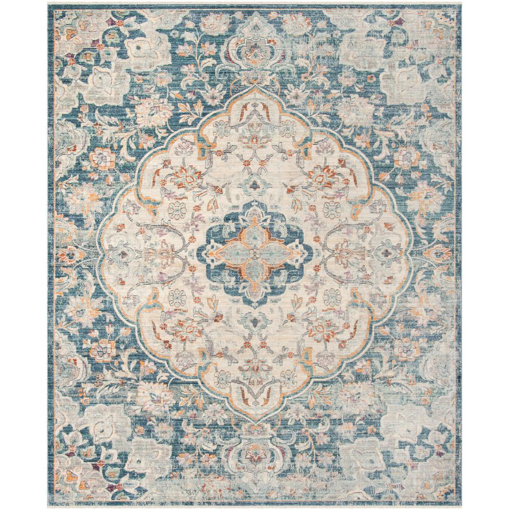 Safavieh Illusion Creamblue 8 Ft X 10 Ft Area Rug Ill711m 8 The