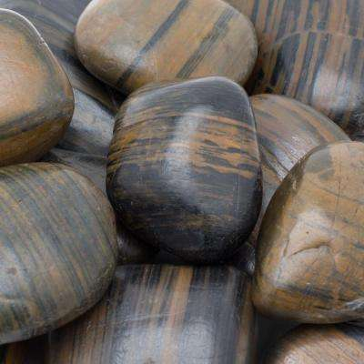 1 in. to 2 in., 20 lb. Medium Striped Grade A Polished Pebbles