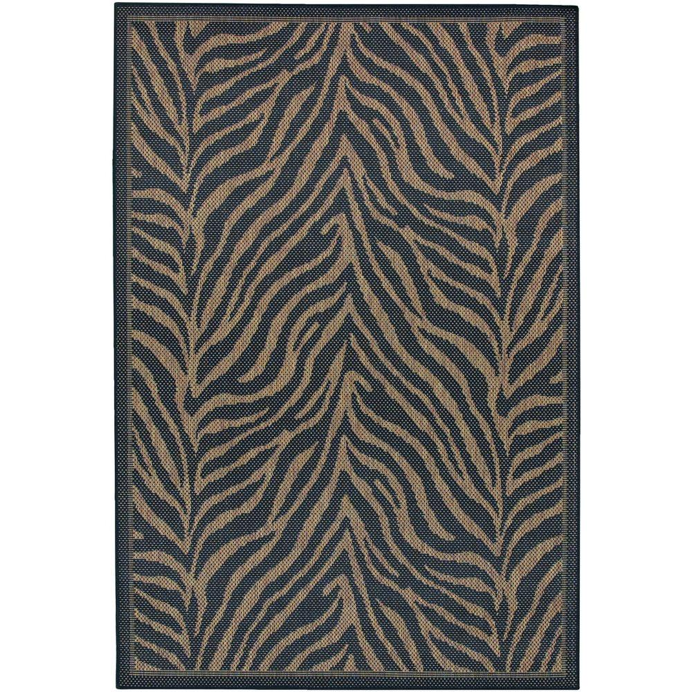 null Recife Zebra Black Cocoa 8 ft. 6 in. x 13 ft. Area Rug