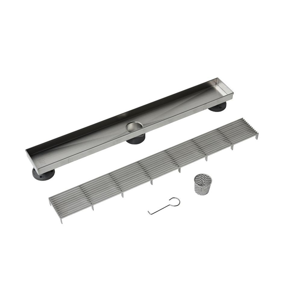 Oatey 24 in. Stainless Steel Linear Drain Wedge Wire Grate-DLS3240 ...