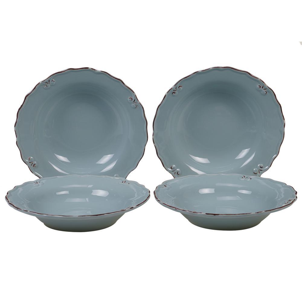 Vintage Blue Soup Bowl (Set of 4)