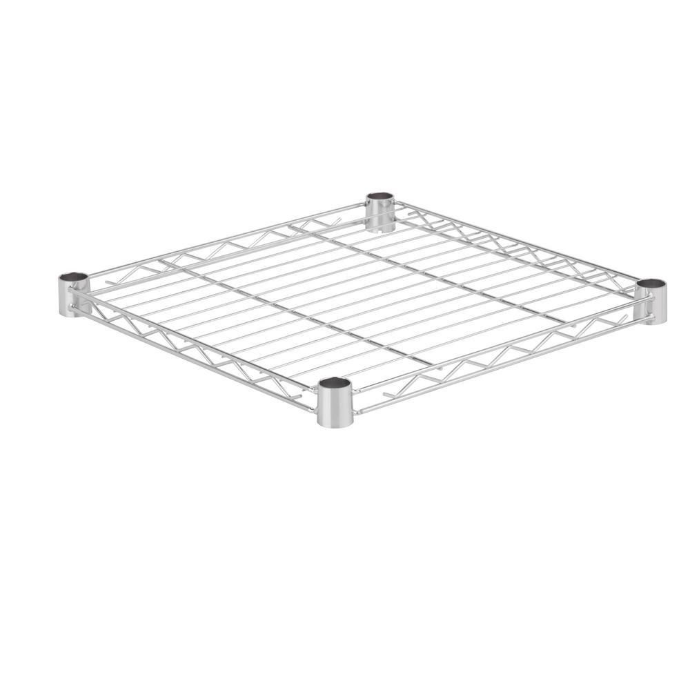 18 in .W x 18 in. D 350 lbs. Steel Shelf in Chrome